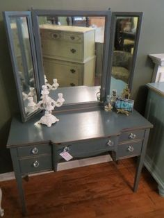 Blue Painted Vanity — Fixed price $429
