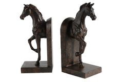 $39 For Me & Candy Bailey Pair of Trotting Horse Bookends, Brown