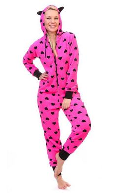 Pink Heart Hoodie Onesie Onesies for Adults are here to stay! Cuddle up in this ultra-soft plush style Onesie Pajamas Women, Cute Pajamas, New Outfits, Cute Outfits, Homemade Valentines, Valentine Box, Valentine Wreath, Valentine Ideas, Valentine Crafts