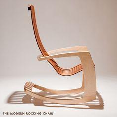 modern rocking chair // J.Rusten Furniture #RockingChair Studio Furniture, Funky Furniture, Classic Furniture, Unique Furniture, Wood Furniture, Furniture Design, Furniture Stores, Cheap Furniture, Cool Chairs