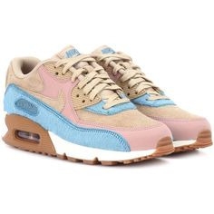 Nike Air Max 90 Leather Sneakers ($195) ❤ liked on Polyvore featuring shoes, sneakers, multicoloured, leather sneakers, multicolor shoes, nike shoes, multi coloured shoes and genuine leather shoes