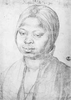 DÜRER, Albrecht The Negress Katherina 1521 Silverpoint drawing on paper, 20 x 14 cm Galleria degli Uffizi, Florence