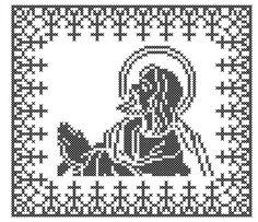 RL006 Cross Stitch Patterns, Charts, Toyota, Symbols, Jesus Christ, Punto De Cruz, Graphics, Graph Of A Function, Counted Cross Stitch Patterns