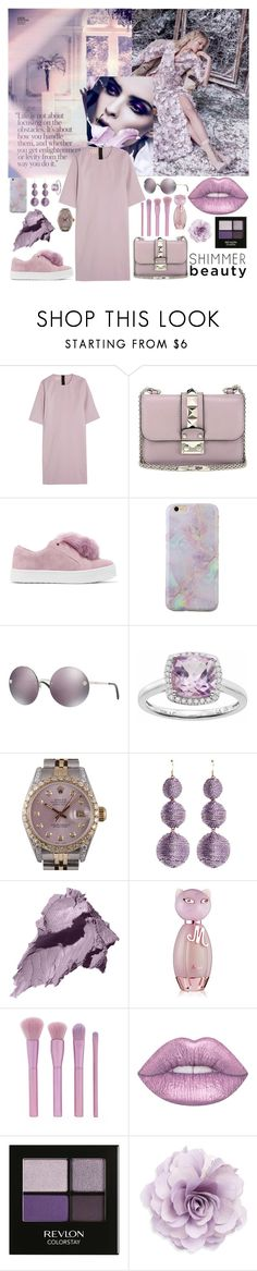 """""""All Lavender"""" by itsoa ❤ liked on Polyvore featuring Marni, Valentino, Sam Edelman, Versace, LC Lauren Conrad, Rolex, Kenneth Jay Lane, Bobbi Brown Cosmetics, Nicki Minaj and Forever 21"""