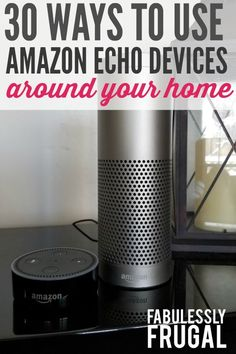 30 ways to use Alexa on your Echo Device. If you're wondering what the best way to use Alexa is, we can help you out! Amazon Echo Tips, Amazon Hacks, Alexa App, Alexa Echo, Alexa Tricks, Alexa Commands, Amazon Alexa Skills, Alexa Device, Ideas