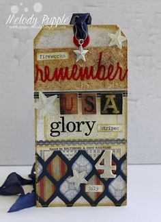 A Paper Melody: Tim Holtz 12 Tags of 2015 - July - Remember