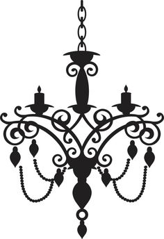 Chandelier Wall Decal by designwithvinyl on Etsy, $15.00