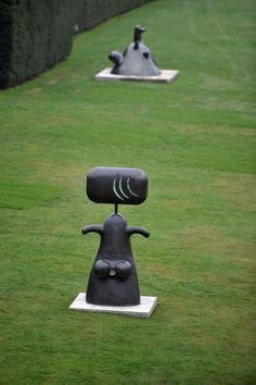 Joan Miro, these sculptures make me feel so happy.