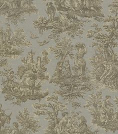 Home Decor Print Fabric-Waverly Artisanal Toile/Ironstone joann.com (59.99 yd / 24 on sale)