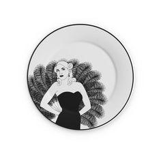 """Burlesque Plate 8"""" Gigi"""