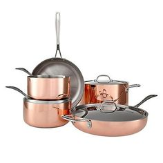 Rose gold pans, the perfect copper pans from John Lewis. For more like this, click the picture or see www.redonline.co.uk