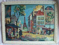 vintage paint by number   Vintage Paint by Numbers / Paris