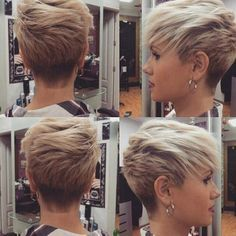 Cool and Stylish Pixie Haircut Ideas for a Bold Statement - hair styles for short hair Sassy Haircuts, Haircuts For Fine Hair, Short Pixie Haircuts, Pixie Hairstyles, Short Hairstyles For Women, Haircut Short, Short Undercut, Updos Hairstyle, Style Hairstyle