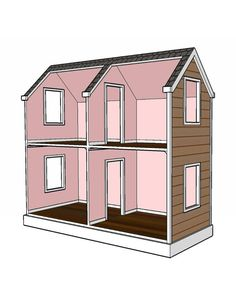 Doll House Plans for American Girl or 18 inch dolls 5 Room NOT