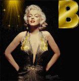 Marilyn Monroe letter B alphabet gif animated