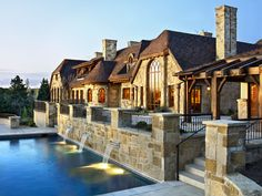 Harrison Custom Builders, Littleton, CO Custom Builders, Old World Style, Stone Veneer, Hearth, Home Projects, Mansions, Landscape, Architecture, House Styles