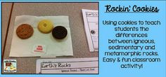 Using Cookies in Your Science Classroom  to Learn About Rocks! - Blog Post