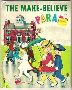 The Make-Believe Parade by Jan Margo, illustrated by Eloise Wilkin.  Wonder Book, 1949