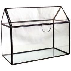 House Glass Terrarium Black ($20) via Polyvore featuring home, home decor, geometric terrariums, succulent terrarium, glass succulent terrarium, geometric glass terrarium and threshold home decor