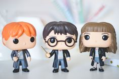 Funko Pop Harry Potter, Ron Weasley and Hermione Granger