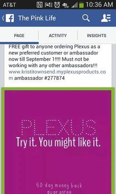 Free stuff!!! Order Plexus
