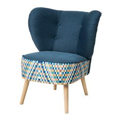 GUBBO Fotel - granatowy/wielobarwny - IKEA