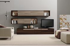 Buy Verona Wall Unit for Sale at Deko Exotic Home Accents. Verona wall unit with. - Buy Verona Wall Unit for Sale at Deko Exotic Home Accents. Verona wall unit with clean lines exempl - Tv Cabinet Design, Tv Unit Design, Tv Wall Design, Design Case, House Design, Tv Design, Design Ideas, Design Inspiration, Living Room Wall Units