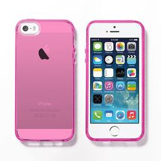 Pink Soft Clear iPhone 5s case