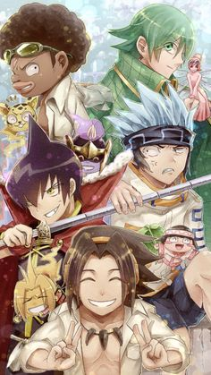 Shaman King Characters and their spirit allies