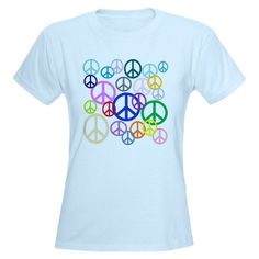 Peace Sign Collage Women's Light T-Shirt - to Sweden