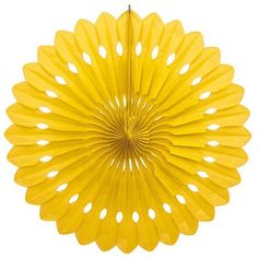 Yellow Decorative Party Fan