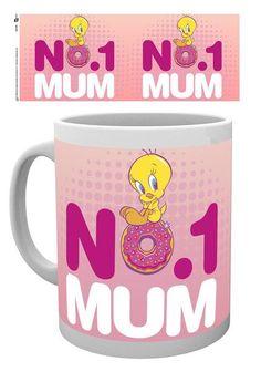Looney Tunes Tweety Number One Mum Mothers Day Mug - Moederdag Mok