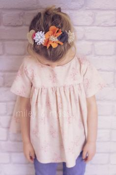 p a r i s . t o p   - Vintage Inspired Floral Baby Doll Style Occasion Blouse Top in Tilda fabric