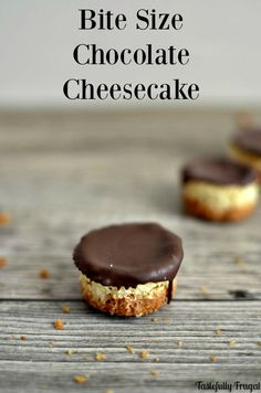Create a sweet treat in the perfect size! Bite size chocolate cheesecake from MichaelsMakers Pretty Providence