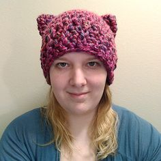 0d1b49ad014 Crocheted cat ear hat cat beanie winter wear by TigardNeedlework Crochet  Patterns For Beginners