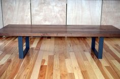 Modern Solid Walnut and powder coated steel coffee by Fabitecture, $1100.00