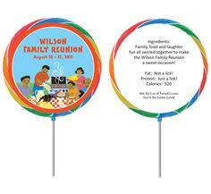Reunion Activities | Family Reunion Theme Lollipop / A great family reunion lollipop