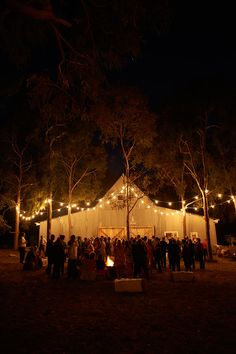 Our wedding reception in the evening. I love fairy lights!