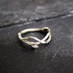 14 Kt Gold Infinity branch organic twig branch wedding by opalwing, $350.00