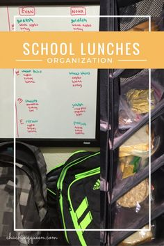 How to organize kids school lunches for the week. Save money by packing the kids' lunches each day.  Here are some time saving ideas and tips.