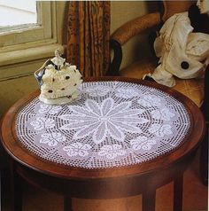 Beautiful White Crochet Doily, Crochet Table Center, Crochet Lace Doily, Victorian, Rustic