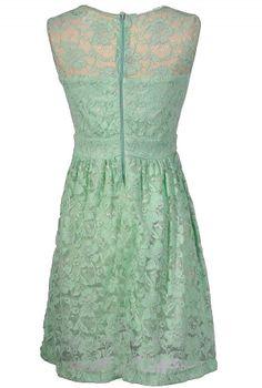Back of mint dress
