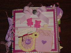Baby Girl paper bag scrapbook album 6x6