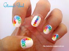 Rainbow Watercolor nails... Uñas de arcoiris