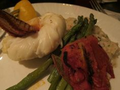 Lobster tail (split in half) from South Africa at Washington Inn in Cape May, NJ
