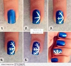 Christmas Snowflake Nails