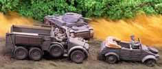 Miniatures from The Black Tree, Bolt Action, NZWM and Tamiya. 28mm Miniatures, Black Tree, Tamiya, Monster Trucks, Places To Visit, Action, Painting, Group Action, Painting Art