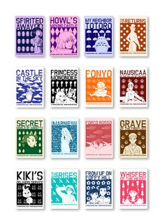 Studio Ghibli Motif Collection Pack of 16 Prints by AnimeLovers
