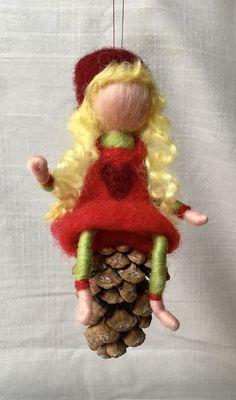 Gefilzte Figur, Nadelfilzen, Weihnachten, Weihnachtswichtel, Wolle