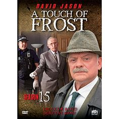 A Touch of Frost Season 15 DVD  The final season of the hugely popular mystery series on DVD!  One of Britain's most successful detective series, A Touch of Frost stars award-winning actor David Jason as Detective Inspector Jack Frost, an unconventional policeman with a knack for attracting trouble. Set in the dreary town of Denton near Bristol in southern England, Frost prefers solving crime to the monotony of police paperwork. Sloppy, disorganized and cantankerous, he often clashes with… Mystery Tv Series, Detective Series, A Touch Of Frost, John Lyon, David Jason, Only Fools And Horses, Masterpiece Theater, Star Awards, Jack Frost